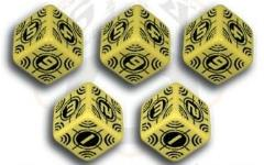 Sniper d6 Set - Yellow w/Black (10)
