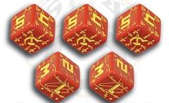 Soviet d6 Set - Red w/Yellow (10)