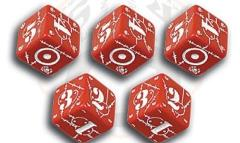 United Kingdom d6 Set - Red w/White (5)