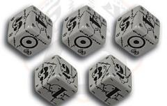 United Kingdom d6 Set - Grey w/Black (10)