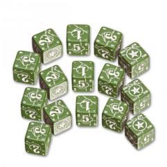 USA D6 Set - Green w/White (15)