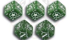 USA D6 Set - Green w/White (10)