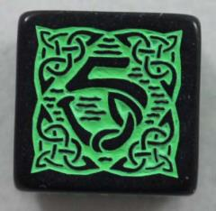Q-Workshop Promo d6 Black w/Green