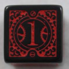 Q-Workshop Promo d6 Black w/Red