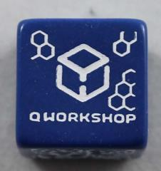 Q-Workshop Promo d6 Dark Blue w/White