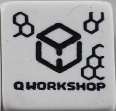 Q-Workshop Promo d6 White w/Black