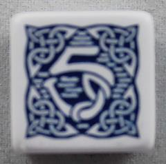 Q-Workshop Promo d6 White w/Dark Blue