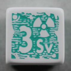 Q-Workshop Promo d6 White w/Teal