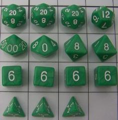 Polyhedral Dice - Jade (15)