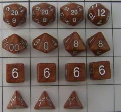 Polyhedral Dice - Red & Orange (15)