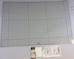 """24"""" x 36"""" Double Sided Mat - 1"""" Squares, Gray"""