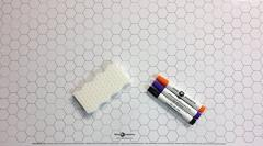 "24"" x 36"" Double Sided Mat - 1"" Squares & 1"" Hexagons, White"