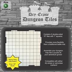 """Dry Erase Dungeon Tiles - 10"""" (9)"""