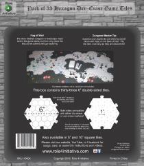"Dry Erase Dungeon Tiles - 6"" Hexagon (33)"