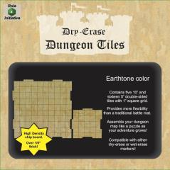 Dry Erase Dungeon Tiles - Earthtone Color, Combo Pack
