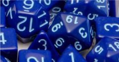 Poly Set - Opaque Dark Blue w/Light Blue (7)
