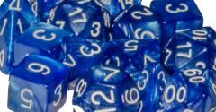 Poly Set Marble Blue w/White (15)