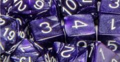 Poly Set Marble Purple w/White (15)