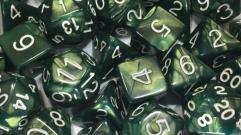 Poly Set Emerald Dragon Shimmer w/White (15)
