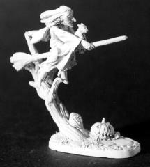 Brunhilda - Witch Riding Broom