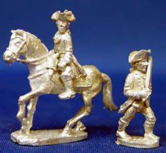 General Wolfe on Horseback & Colonel Washington on Foot