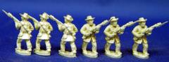 Confederate Infantry w/Slouch Had - Advancing