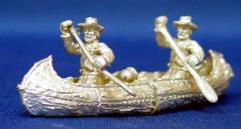 Canoe w/2 European Paddlers