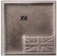 "WWII Battle Base - British, 1"" x 1"""