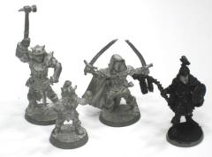 Forgotten Realms Heroes - Bruenor, Drizzt, Thunderstorm & Wulfgar