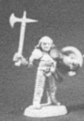 Fighter w/Axe, Sword & Kite Shield