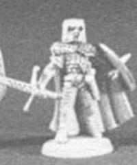 Fighter in Scale Armor w/Long Sword, Short Sword & Kite Shield
