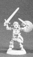 Fighter w/Dagger, 2 Swords & Shield