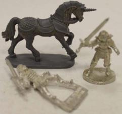 Female Paladin on Foot & Mounted on Armored Unicorn #1