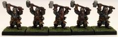 Dwarf Fighters w/Warhammers Collection #1