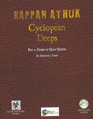 Cyclopean Deeps #1 - Down to Ques Querax (w/PDF) (Swords & Wizardry)