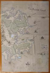 Razor Coast - Cloth Map (System Neutral) (Limited Edition)