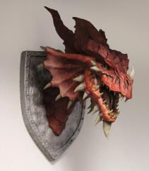 Red Dragon Trophy Plaque