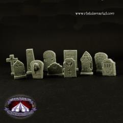 Fantasy Graveyard Tombstones