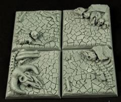 40mm Wasteland Square Bases