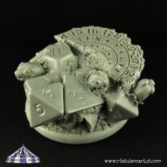 50mm Dice Turtle Round Edge Scenic Base