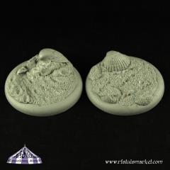 40mm Summer Beach Round Edge Bases