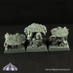 20mm Goblin Carriers Scenic Square Bases