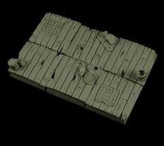 25mm Wooden Floor Square Bases
