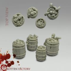 Wooden Barrels w/Corpses