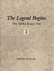 Legend Begins, The - The Afrika Korps 1941 (2nd Edition)