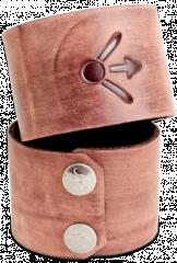 Leather Wrist Cuff - Attack One, Brown