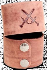 Leather Wrist Cuff - Attack Three, Brown