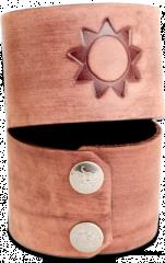 Leather Wrist Cuff - Attack Five, Brown