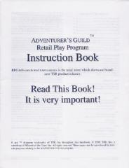 Series #2 - Adventurer's Guild Retail Play Program, Instruction Book