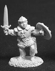 Dar Dimplefoot Male Halfling Fighter w/Sword & Shield